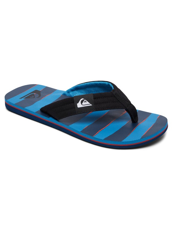 0 Boy's 8-16 Molokai Layback Sandals Black AQBL100261 Quiksilver
