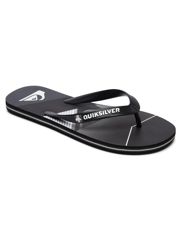 0 Boy's 8-16 Molokai Slash Fade Logo Flip-Flops  AQBL100264 Quiksilver