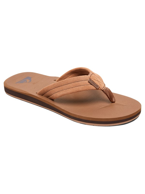 0 Carver Suede - Leather Sandals Beige AQBL100275 Quiksilver