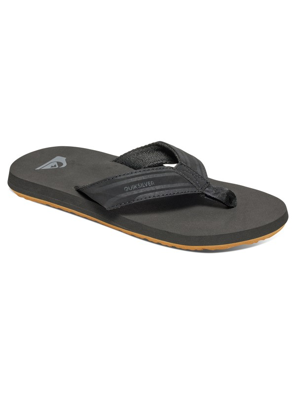 0 Boy's 8-16 Monkey Wrench Sandals Black AQBL100276 Quiksilver