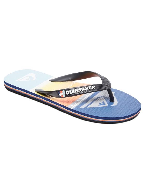 0 Boy's 8-16  Molokai Highline Slab Flip-Flops Multicolor AQBL100292 Quiksilver