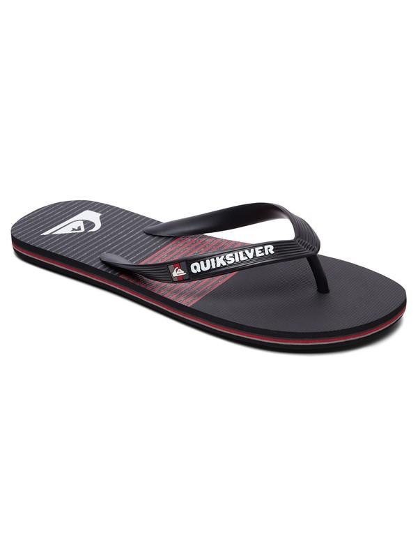 0 Boy's 8-16 Molokai Tijuana Flip-Flops Black AQBL100300 Quiksilver