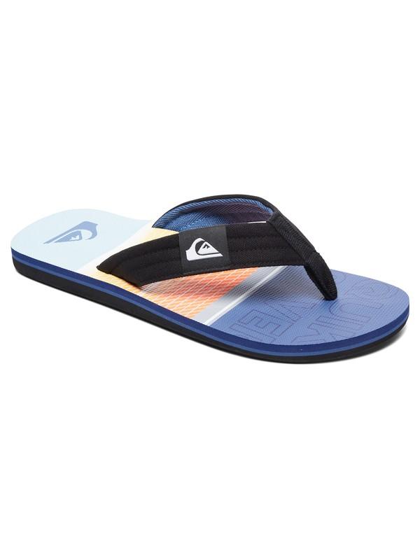 0 Boy's 8-16 Molokai Layback Flip-Flops Multicolor AQBL100302 Quiksilver