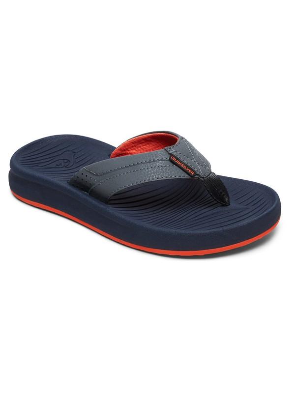 0 Boy's 8-16 Oasis Sandals Grey AQBL100336 Quiksilver