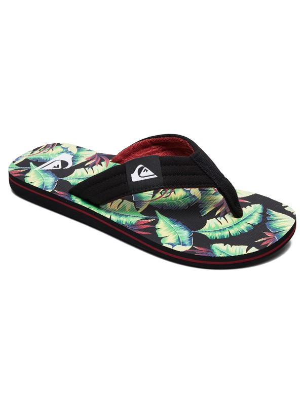 0 Boy's 8-16 Molokai Layback Sandals Black AQBL100359 Quiksilver