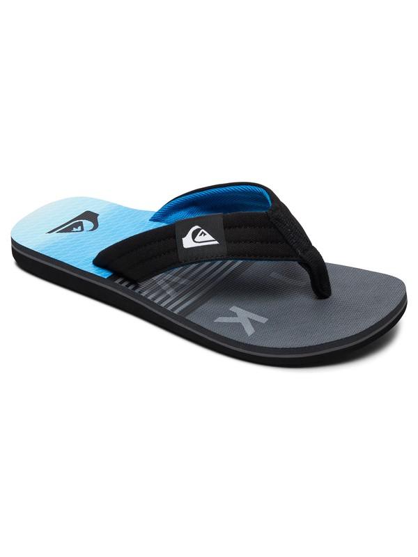 0 Boy's 8-16 Molokai Layback Sandals Black AQBL100359 Quiksilver
