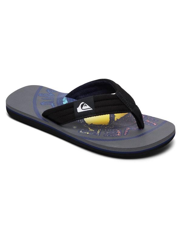 0 Boy's 8-16 Molokai Layback Sandals Grey AQBL100359 Quiksilver