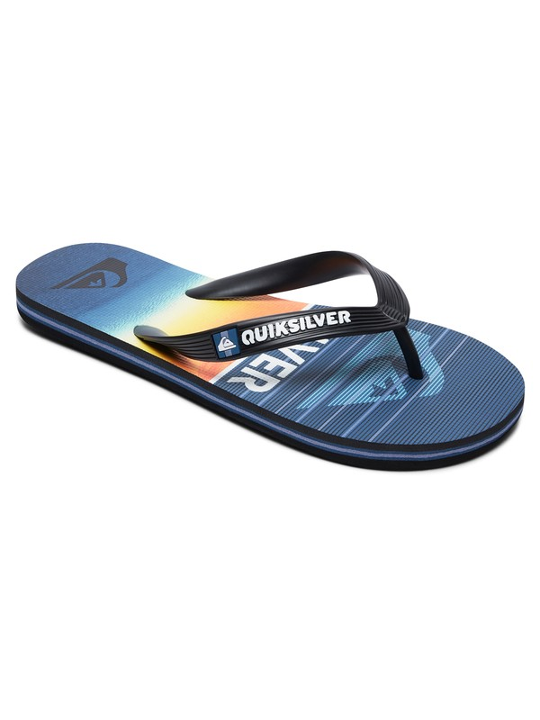 0 Boy's 8-16 Molokai Highline Slab Flip-Flops Black AQBL100363 Quiksilver