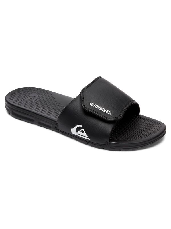 0 Boy's 8-16 Shoreline Adjust Slider Sandals Black AQBL100397 Quiksilver