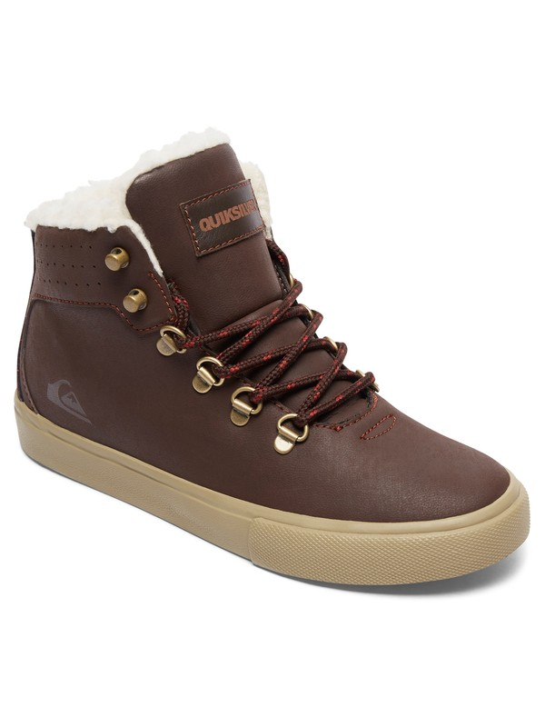 0 Jax - Mid-Top Shoes for Boys Brown AQBS100003 Quiksilver