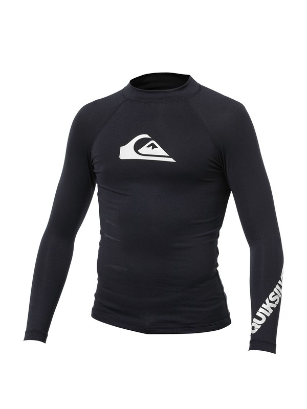 0 Boys All Time Long Sleeve Rashguard  AQBWR00001 Quiksilver