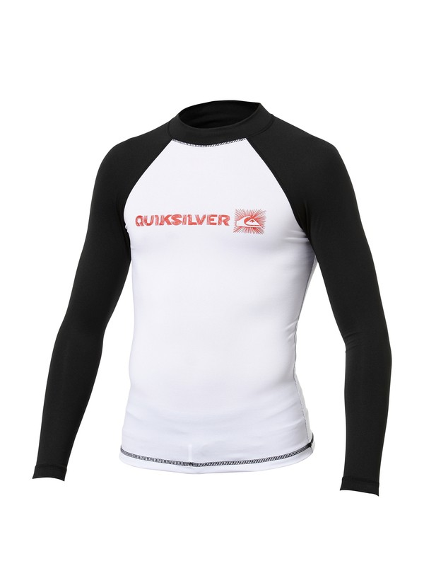 0 Boys Phaser Long Sleeve Rashguard  AQBWR00003 Quiksilver