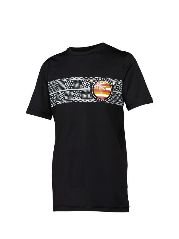 0 Boys Makaha Short Sleeve Rashguard  AQBWR00027 Quiksilver
