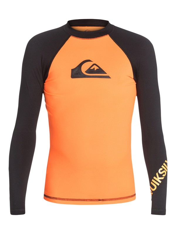 0 Boys 8-16 All Time Long Sleeve Rashguard  AQBWR03001 Quiksilver