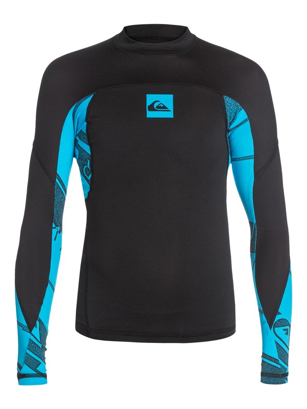 0 Boys 8-16 Sublimator Long Sleeve Rashguard  AQBWR03007 Quiksilver