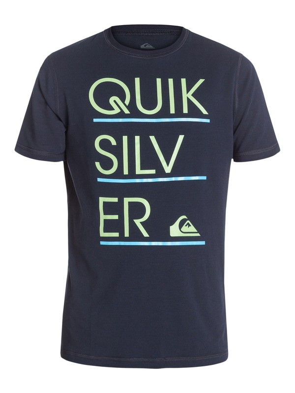 0 Boys 8-16 Stacker Short Sleeve Rashguard  AQBWR03012 Quiksilver