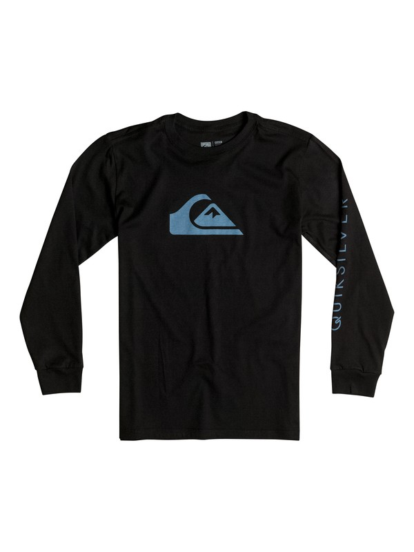 0 Boy's 8-16 Mountain & Wave Logo Long Sleeve Tee  AQBZT03115 Quiksilver