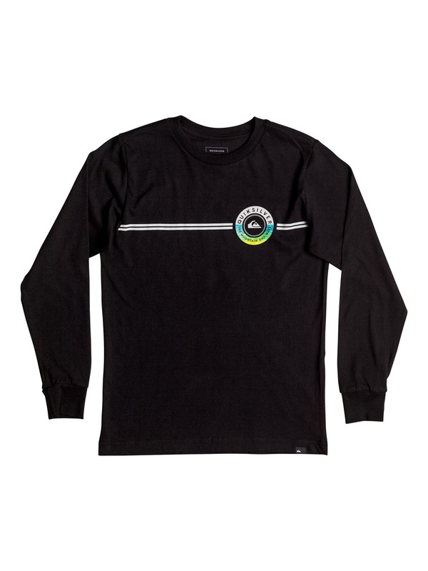0 Boy's 8-16 Golden Lines Long Sleeve Tee  AQBZT03206 Quiksilver