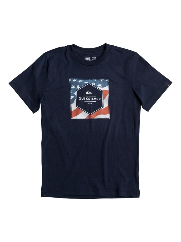 0 Boy's 8-16 Stars And Stripes Tee  AQBZT03220 Quiksilver