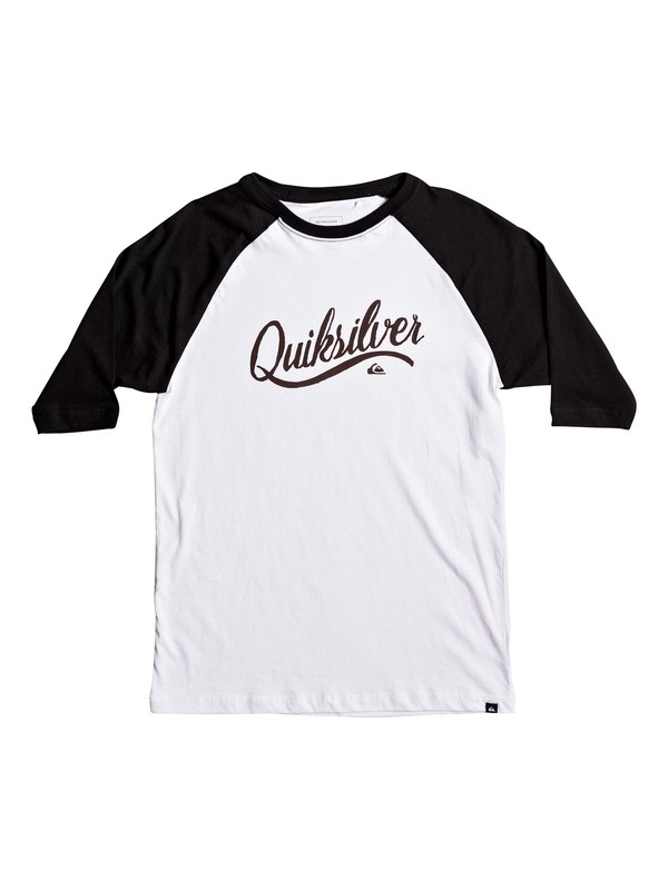 0 Boy's 8-16 Sea Scroll Raglan 3/4 Sleeve Tee  AQBZT03259 Quiksilver