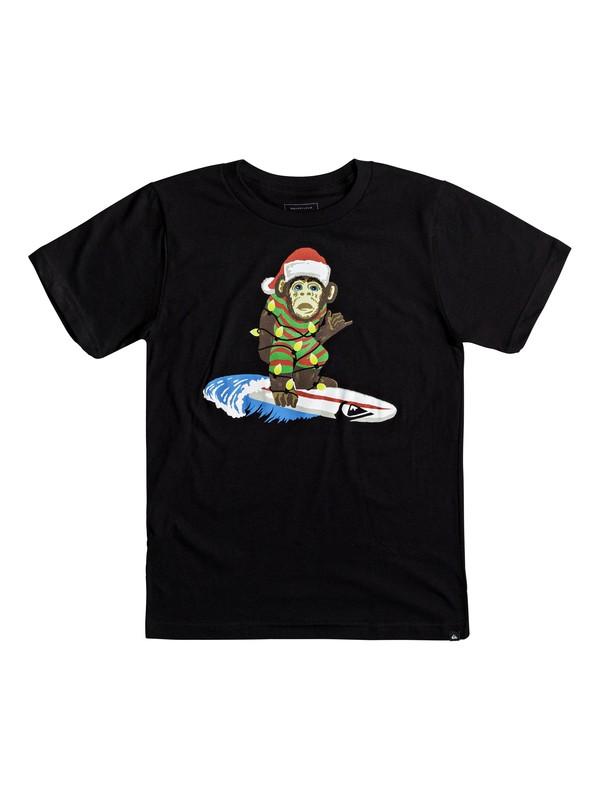 0 Boy's 8-16 Santa Surf Monkey Tee  AQBZT03316 Quiksilver