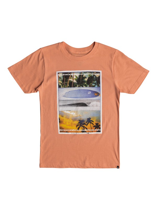 0 Boy's 8-16 Place To Be Tee Orange AQBZT03327 Quiksilver