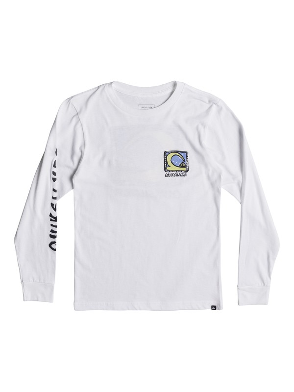 0 Boys 8 -16 Dens Way Long Sleeve Tee White AQBZT03340 Quiksilver