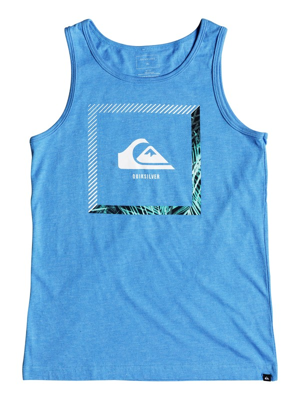 0 Boys 8-16 Beat The Heat - Tank Blue AQBZT03376 Quiksilver