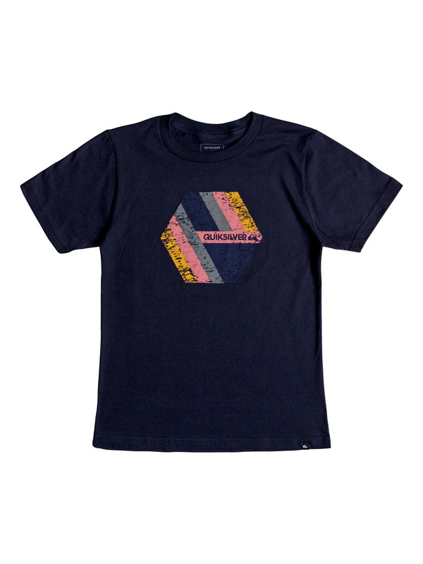0 Boy's 8-16 Retro Right Tee Blue AQBZT03408 Quiksilver