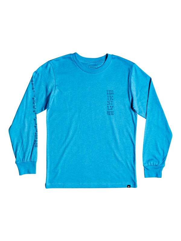 0 Boy's 8-16 Bone Party Long Sleeve Tee Blue AQBZT03417 Quiksilver
