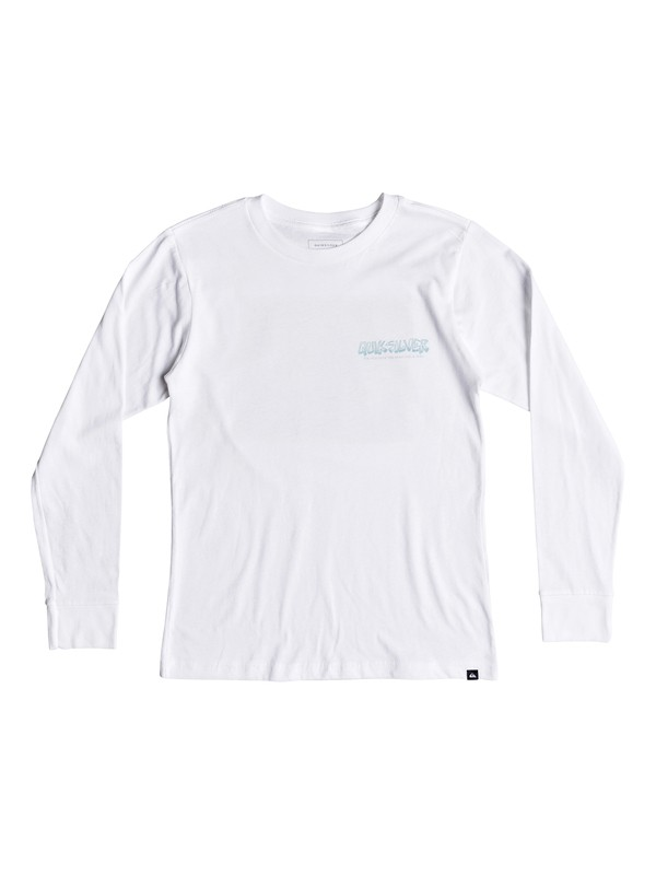 0 Boy's 8-16 The Original M And W Long Sleeve Tee White AQBZT03418 Quiksilver
