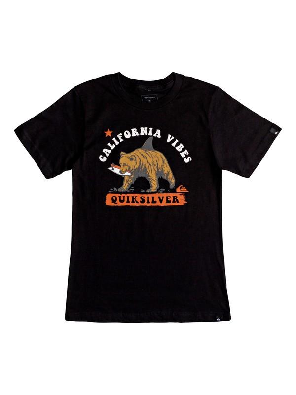 0 Boy's 8-16 Cali Bear Shark Tee Black AQBZT03451 Quiksilver