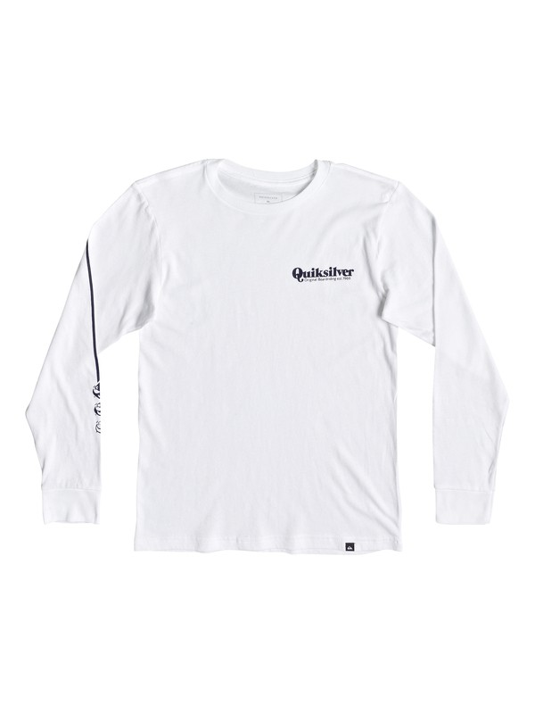 0 Boy's 8-16 Fineline Long Sleeve Tee White AQBZT03471 Quiksilver