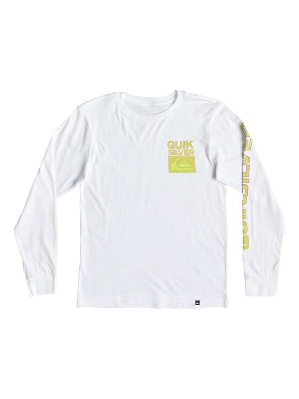 0 Boy's 8-16 Pixel Screen Long Sleeve Tee White AQBZT03472 Quiksilver