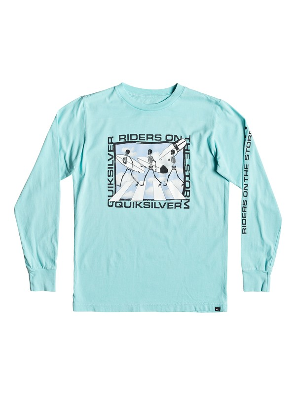 0 Boy's 8-16 Stormy Rider Long Sleeve Tee Blue AQBZT03528 Quiksilver