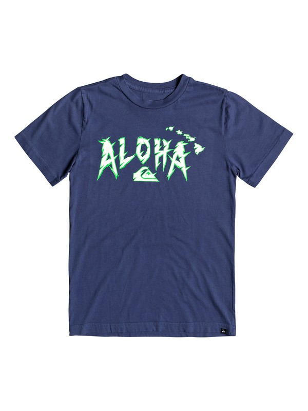 0 Boy's 8-16 Slasher Tee Blue AQBZT03530 Quiksilver
