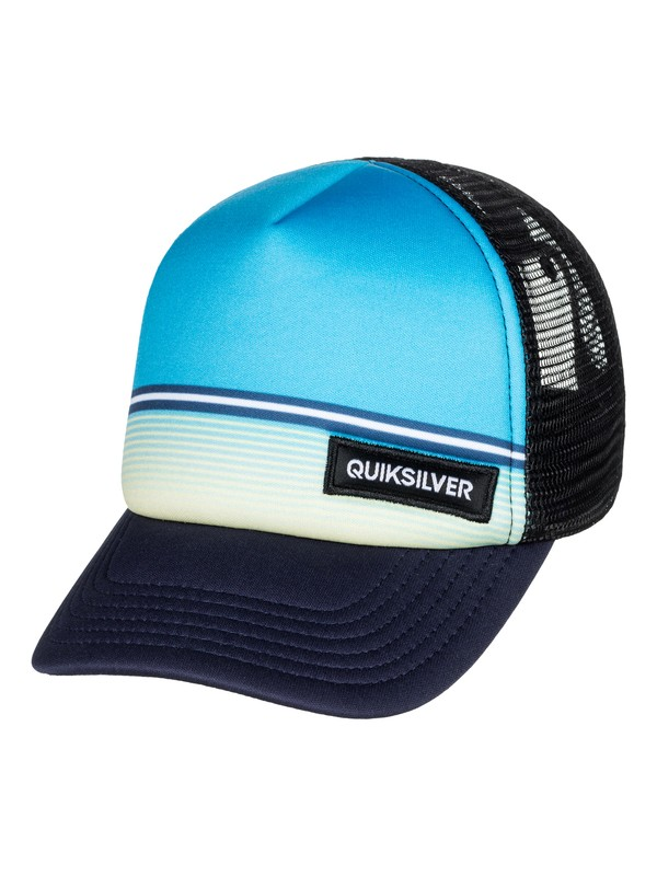 0 Baby Stripe Stare - Trucker Hat Blue AQIHA03081 Quiksilver