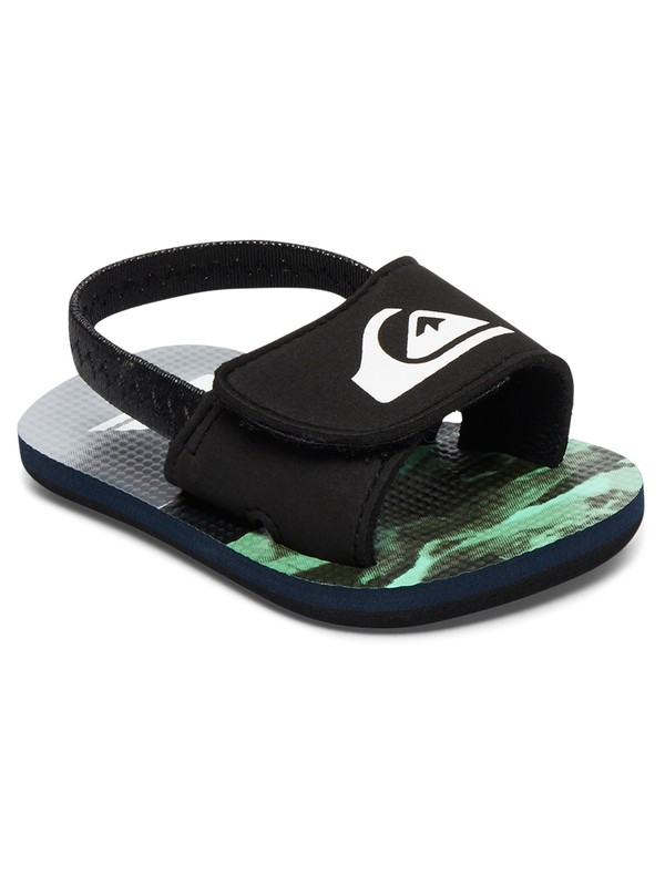 0 Baby Molokai Layback Slider Sandals Black AQIL100003 Quiksilver
