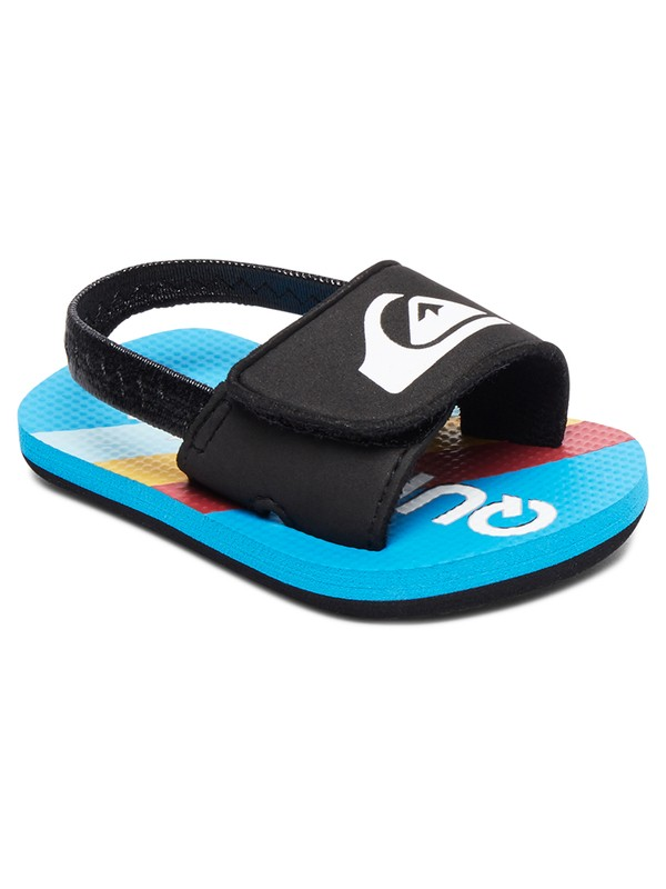 0 Baby Molokai Layback Slider Sandals Black AQIL100006 Quiksilver