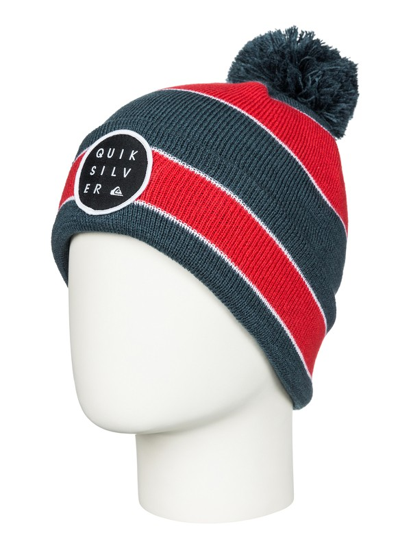 0 Double Up - Cuff Beanie With Bobble  AQKHA03064 Quiksilver