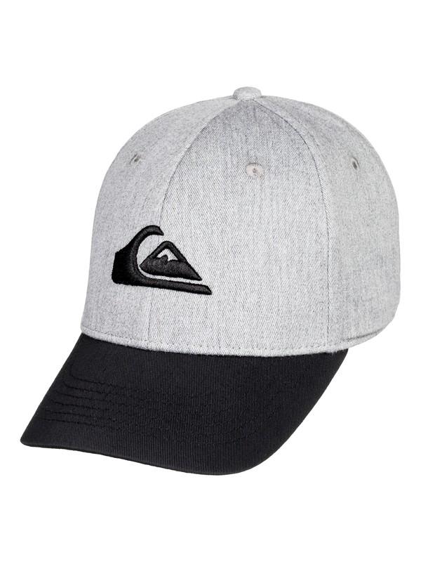 0 Boy's 8-16 Decades Snapback Hat Grey AQKHA03151 Quiksilver