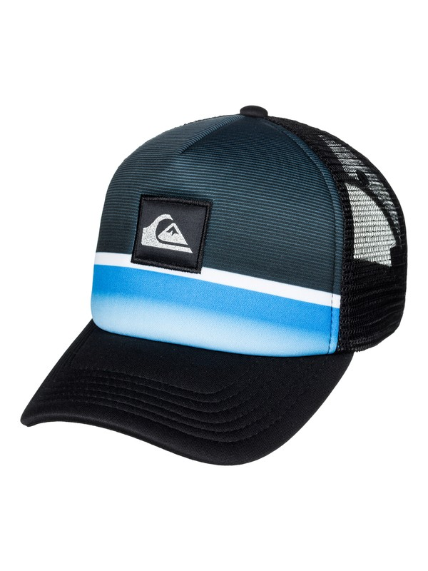 0 Boy's 2-7 Stripe Downer Trucker Hat  AQKHA03184 Quiksilver