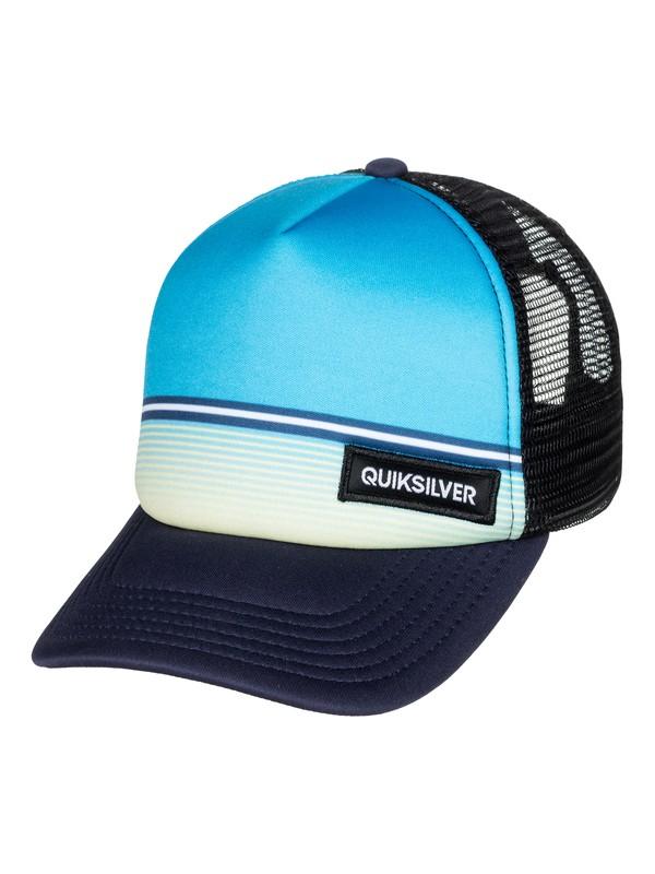 0 Boys 2-7 Stripe Stare - Trucker Hat Blue AQKHA03205 Quiksilver