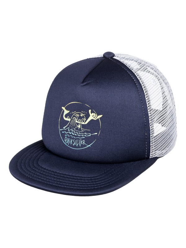 0 Boy's 2-7  Mini Snarl Trucker Hat Blue AQKHA03212 Quiksilver