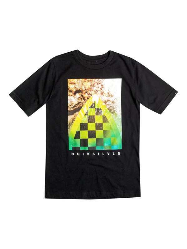 0 Boys 2-4 Checker Channel Tee  AQKZT03070 Quiksilver