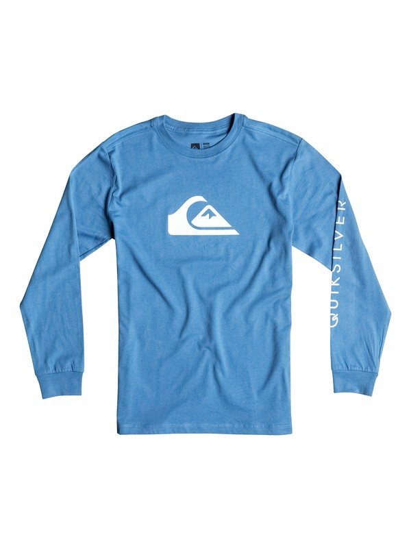0 Boy's 2-7 Mountain & Wave Logo Long Sleeve Tee  AQKZT03129 Quiksilver