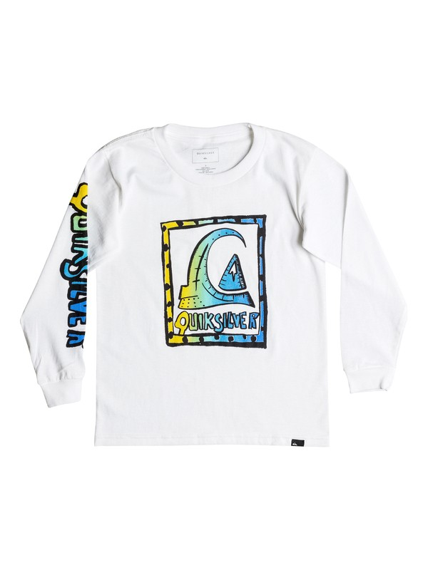 0 Boy's 2-7 Logoalolo Long Sleeve Tee  AQKZT03218 Quiksilver