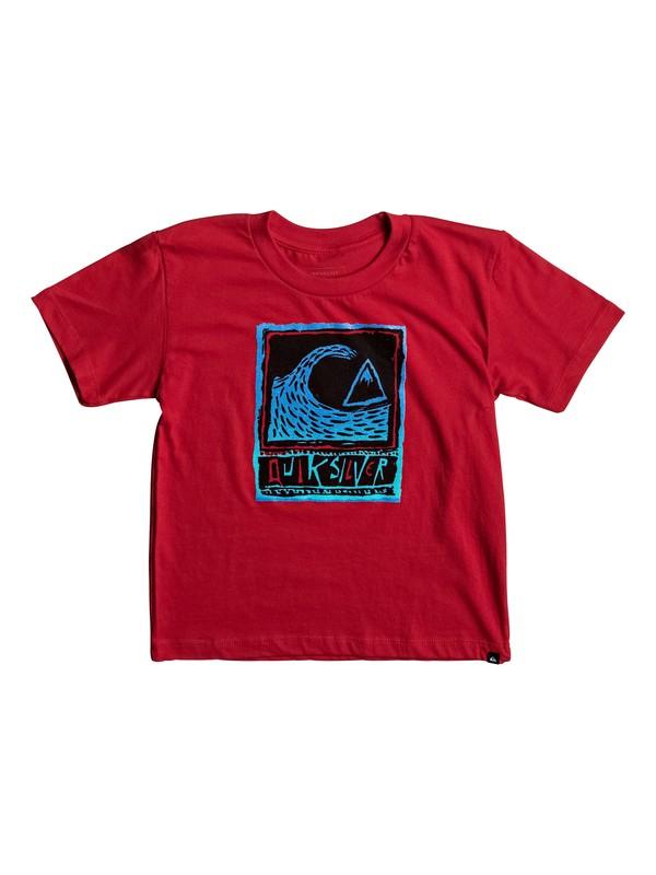 0 Boy's 2-7 Peaks Tee Red AQKZT03247 Quiksilver