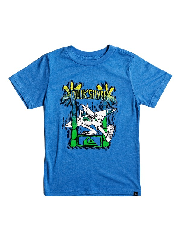 0 Boy's 2-7 Palm Dog Tee Blue AQKZT03252 Quiksilver