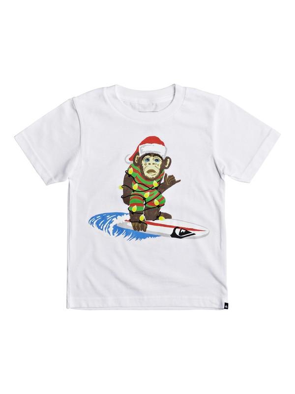 0 Boy's 2-7 Santa Surf Monkey Tee  AQKZT03292 Quiksilver